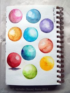 Lost Coast Post: Watercolor Wednesday: Shaded Spheres How-To