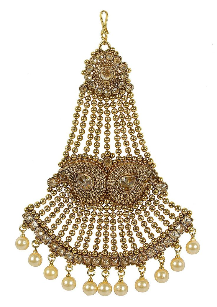 Muchmore Girl's Style Traditional Fashionable Gold Tone Jhumar Style Stud Paasa Indian Jewellery