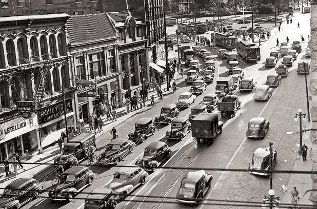David McGee, archivist, and Lost Ottawa FB page (this image of Rideau St. in Ottawa, ON is from CMST)