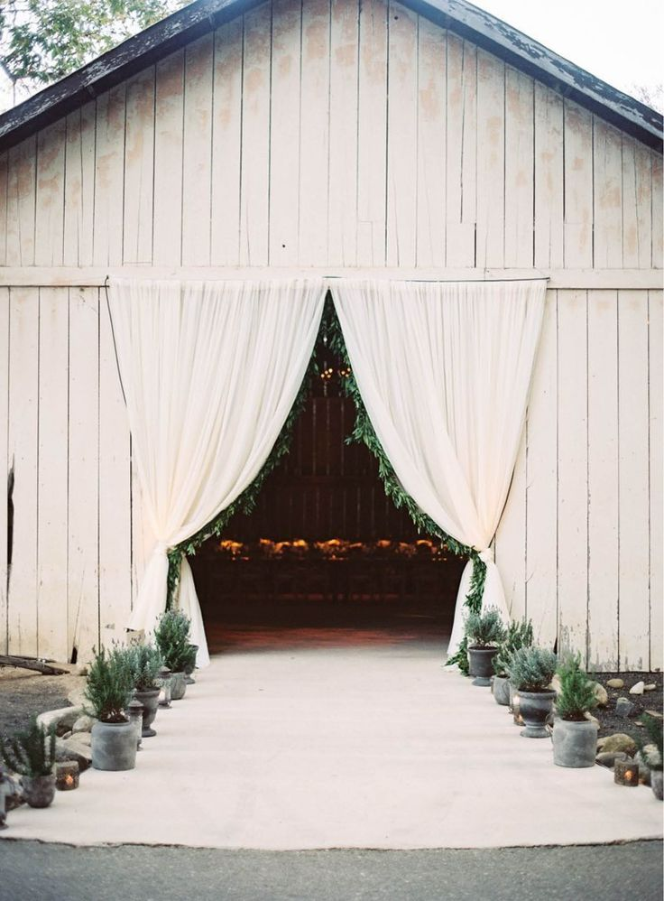 A close-up of the stunning wedding reception barn at this California wedding venue courtesy of The Venue Report and shot by @Braedon Flynn.