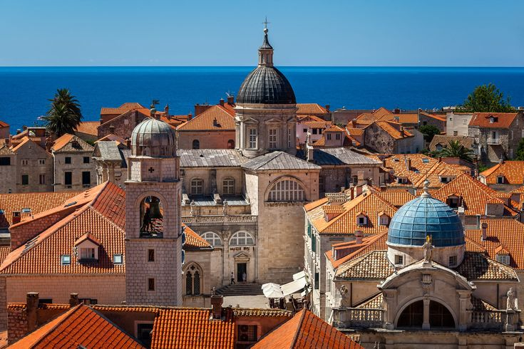 """Aerial View of Luza Square, Saint Blaise Church and Assumption Cathedral from the City Walls, Dubrovnik, Croatia  Follow me on my <a href=""""http://blog.ansharphoto.com"""">Blog</a> 