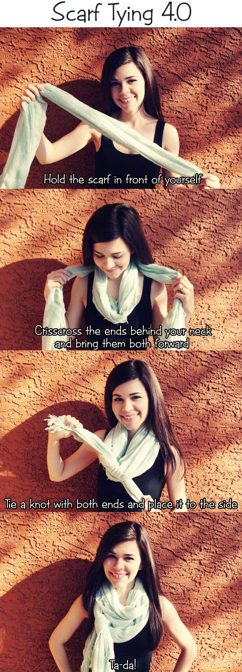 Scarf Tying 4.0 by Style through Her Eyes http://stylethroughhereyes.blogspot.com/2014/04/scarf-tying-40.html #scarftutorial #scarf #mint