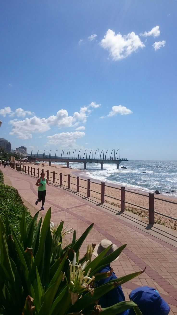 Pier in Umhlanga. Design based on a whale skeletal