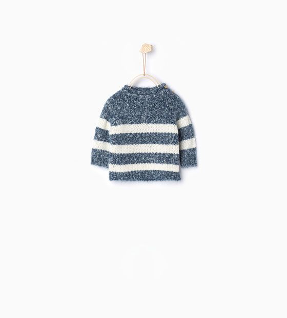 Image 1 of Striped knitted sweater from Zara