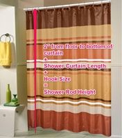 Unsure whether that shower curtain you're eyeing is the right fit for your tub? Check this standard shower curtain size guide before you buy!