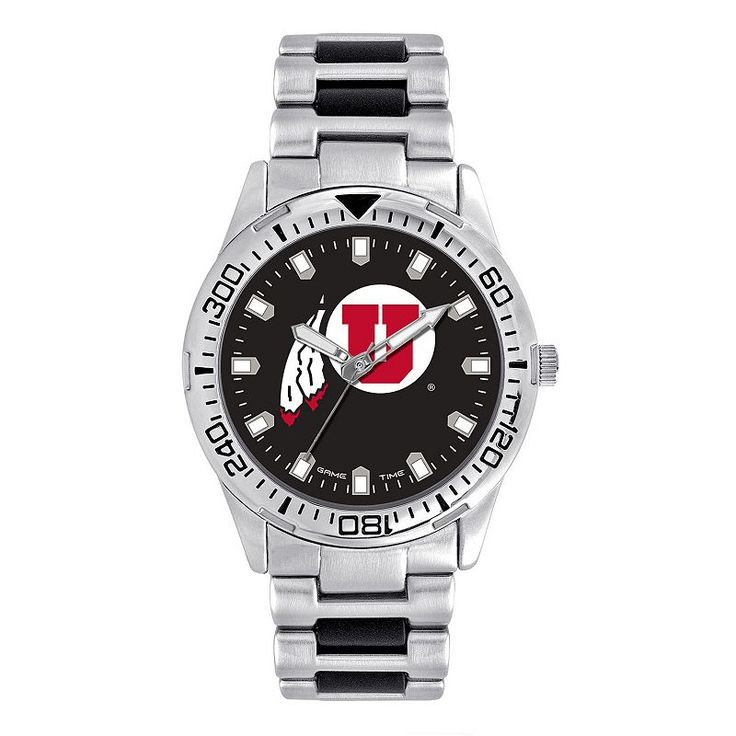 Men's Game Time Utah Utes Heavy Hitter Watch, Silver