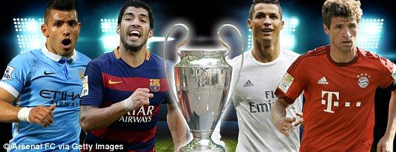 UEFA Champions League draw and fixtures: Man City vs PSG, Barcelona vs Atletico Madrid | Daily Mail Online