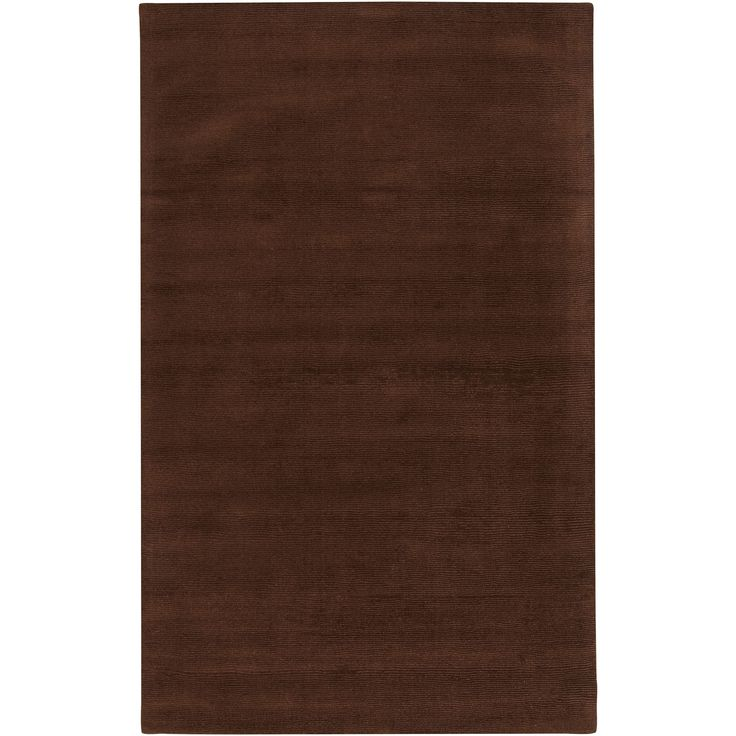 Hand Crafted Brown Solid Casual Nivia Wool Rug (5u0027 X 8u0027)