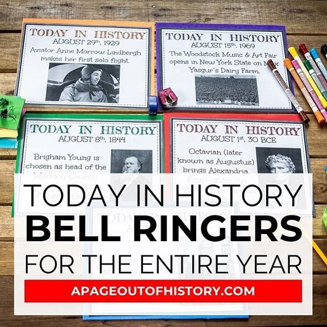 Did you use bell ringers in your social studies classroom? If you're interes…