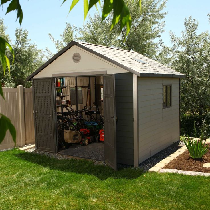 Found it at Wayfair - 10 Ft. W x 10 Ft. D Plastic Storage Shed