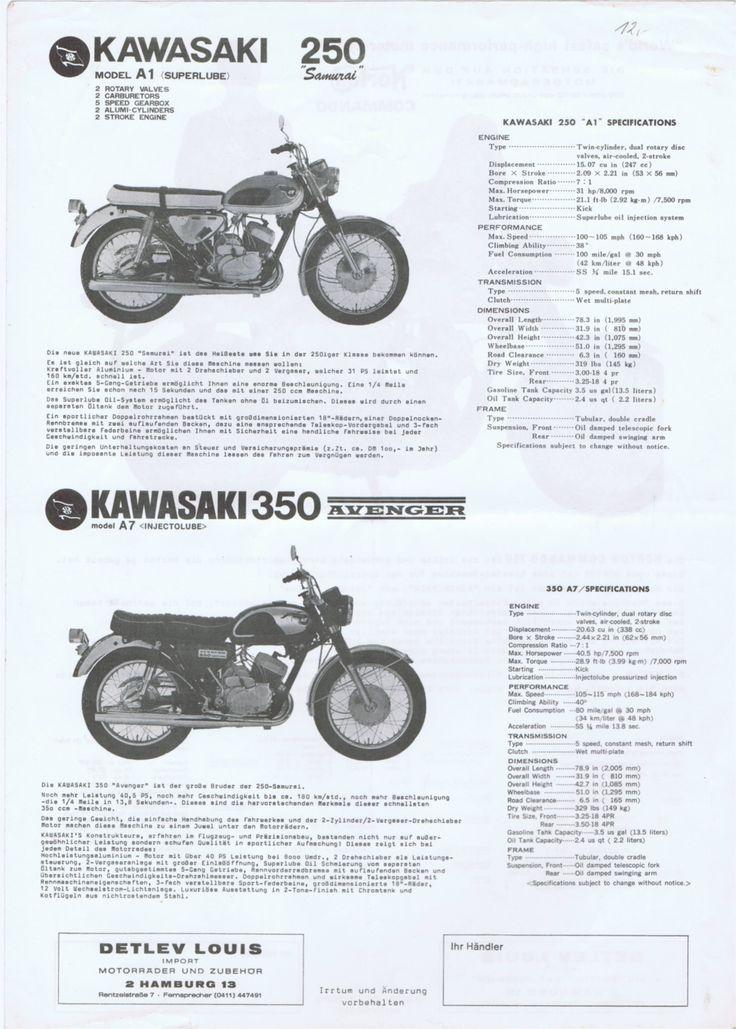 1968_Kawasaki 250 Samurai A1+350 Avenger A7 2-stroke brochure.GERMANY_01