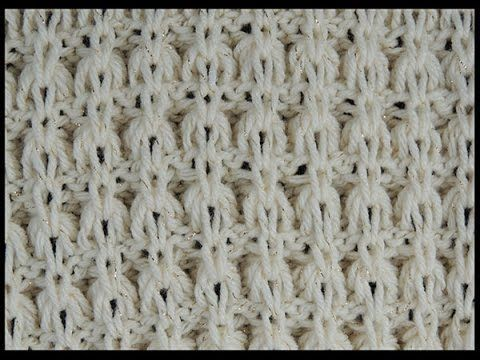 How to Knit the TASSEL STITCH - Perfect for Grads! - YouTube