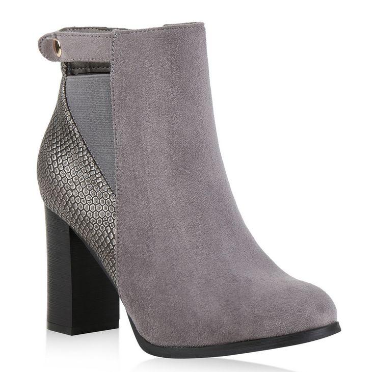 Metallic-Details avancieren diese Damen Ankle Boots von stiefelparadies.de zu einem echten Hingucker. #stiefeletten