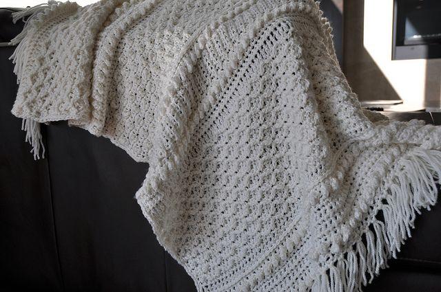 Free Crochet Afghan Patterns Using Homespun Yarn : Aran Afghan by Priscilla Hewitt free pattern on Ravelry ...
