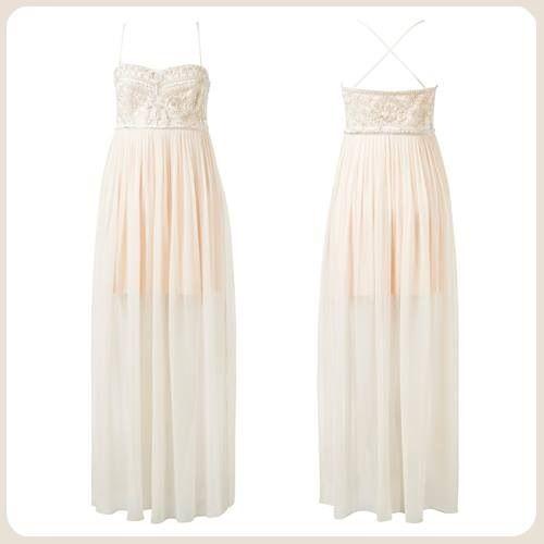 İşlemeli elbise, kremayla kayısı renklerinin harikulade ahengini yansıtıyor. http://www.forevernew.com.tr/elbise/drz3609-candice-embellished-silk-maxipetal-cream_487_34798