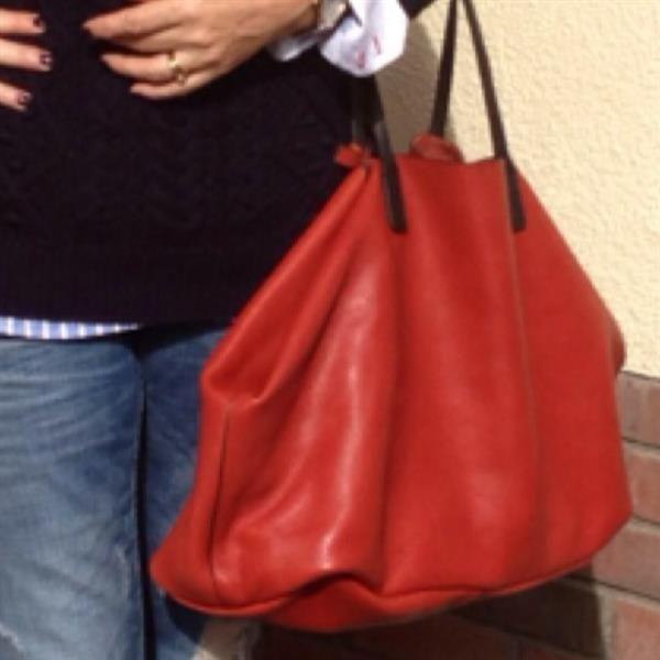 Orange leather shopper - Zara by Linda