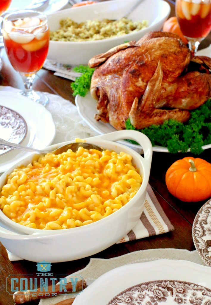 Thanksgiving Dinner and Crock Pot Macaroni and Cheese recipe at The Country Cook