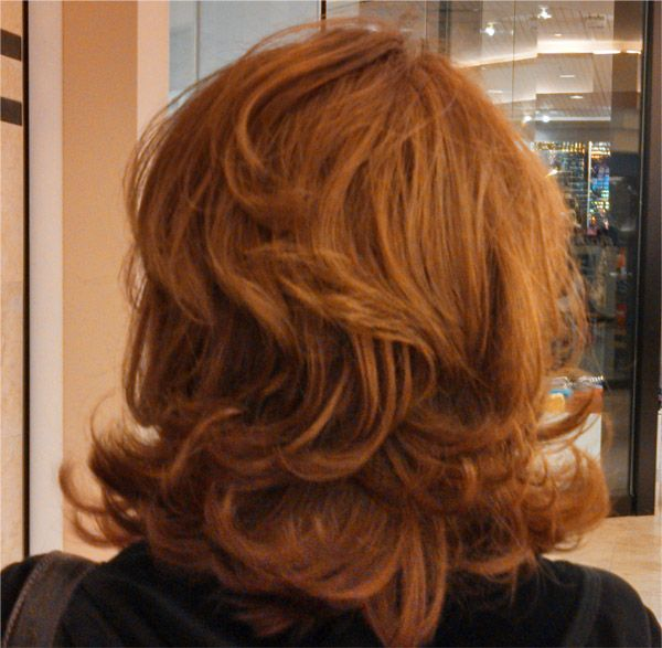 Back view of Haircut by Quincy Tran at Regis Hair Salon, Galleria Mall, Ft Lauderdale FL.