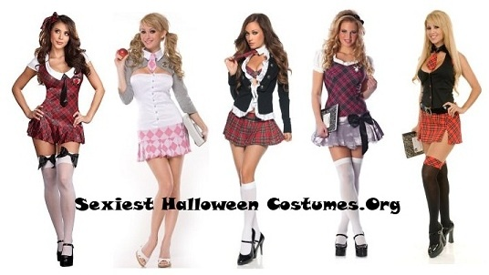http://www.sexiesthalloweencostumes.org/buycostumes The sexy school girl Halloween costume is in a class on its own. There are so many ways to design your sexy schoolgirl costumes. A very versatile costume that can be put together from clothing in your wardrobe. All you have to do to finish the look is put on some geeky glasses and do your hair in 2 pony tails and you are good to go.