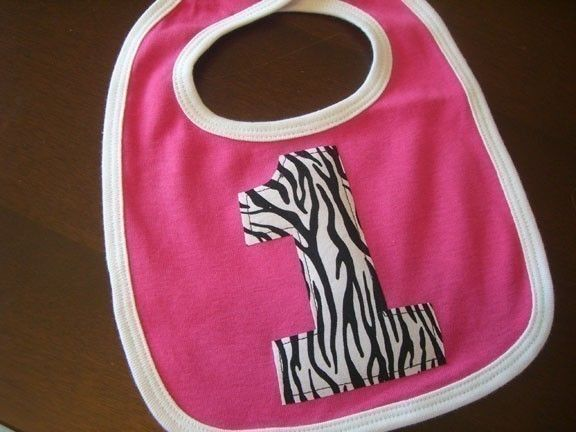 Infant/Toddler Girls First 1st Birthday Zebra Hot Pink