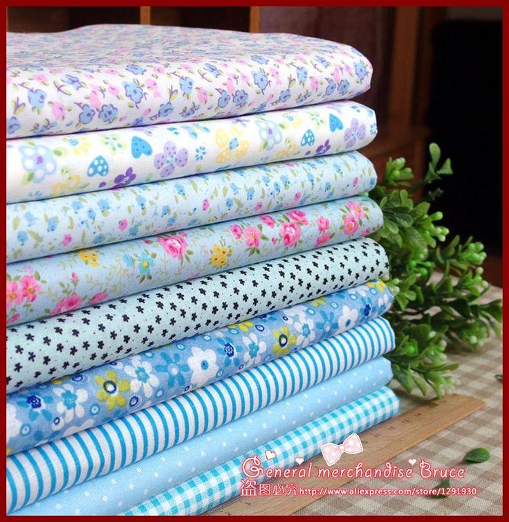 Супер дело! 9 шт. 30 * 20 см синий серии тильда ткань цветочные хлопок обивочных тканей для лоскутные одеяла швейная материал