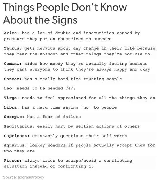 Things people don't know about the 12 Zodiac Signs. Cancer ♋ Zodiac Sign