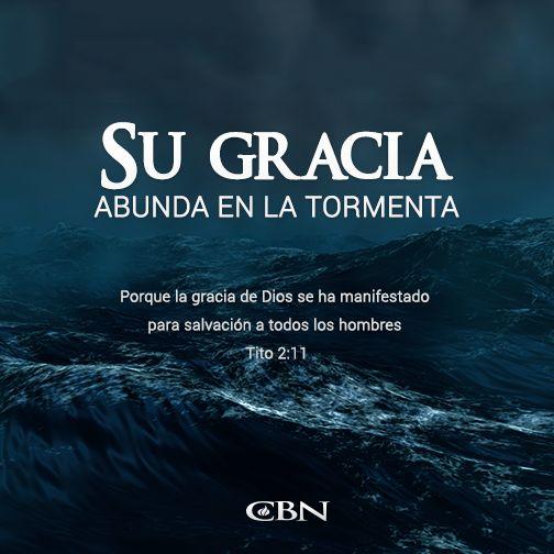 Por su Gracia soy #Salv@, tengo vida Eterna y en medio de la tempestad siempre se hace presente.