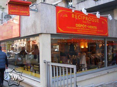 Reciproque.  rue de la pompe 16ème. Largest luxury consignment shop in Paris!