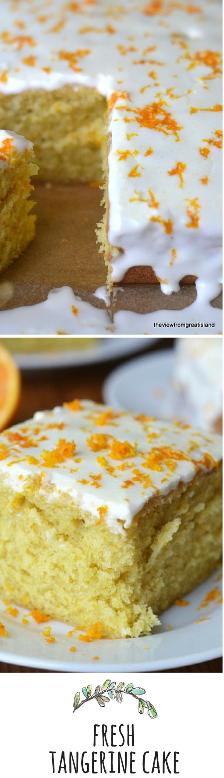 This cake bursts with fresh tangerine flavor!