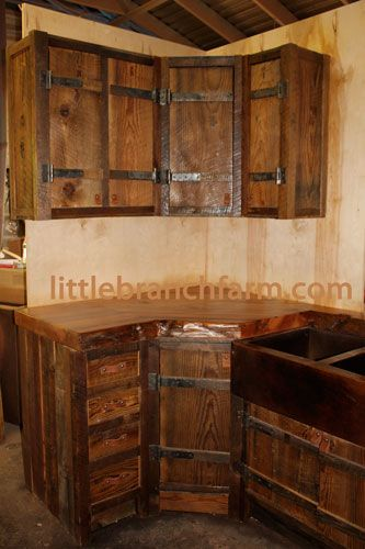 Rustic Cabinets Love The Hinges (and The Wood) :)