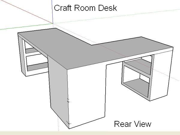 craft room desk design - Desk Design Plans