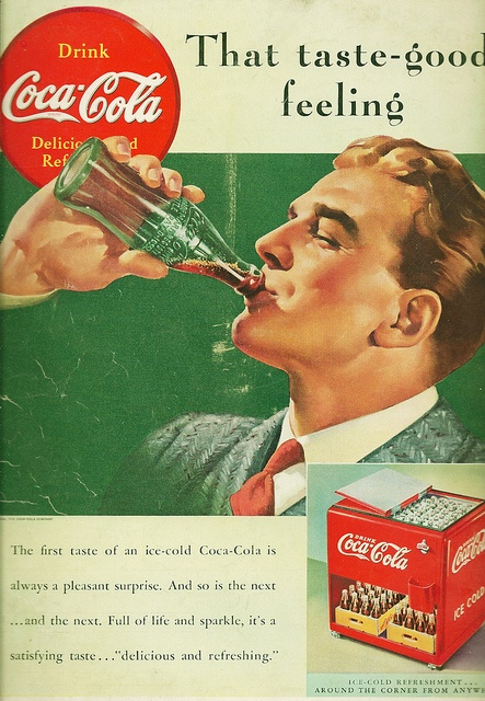 Ad-Coca Cola 1939 - I am aware this is an illustration , but men really seemed much more handsome back then.