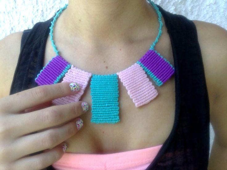 Funky macrame necklace