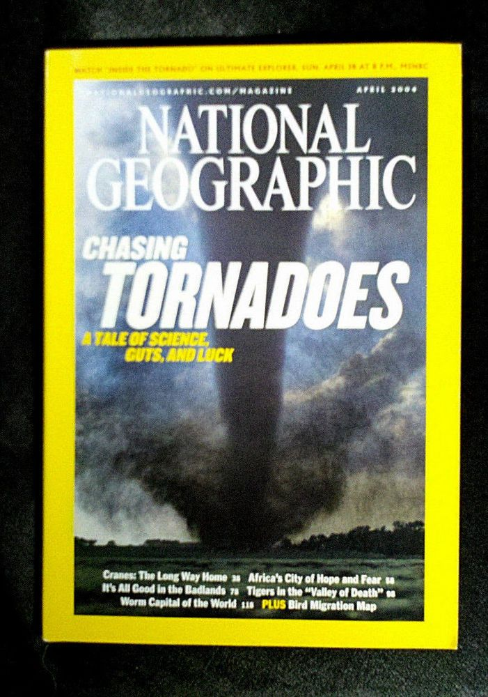 Nat Geo tornadoes! RARE TORNADO CHASERS NATIONAL GEOGRAPHIC APRIL 2004 CRANES JOHANNESBURG BADLANDS  WEATHER METEOROLOGY - on eBay! $4.98