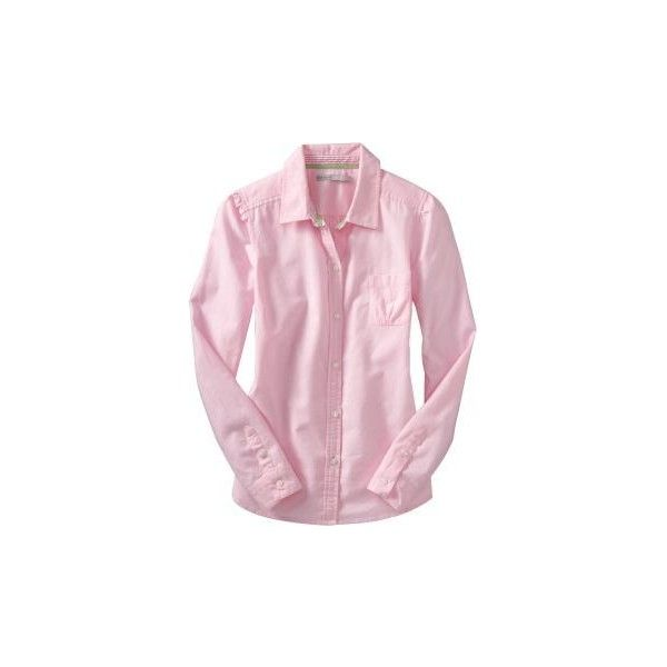 Women: Women's Oxford Shirts - Light Pink ($20) ❤ liked on Polyvore featuring tops, long-sleeved shirts, women, old navy, tailored shirts, oxford shirt, pink oxford shirt and ruched sleeve top