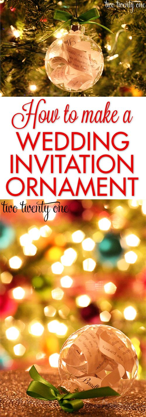 wedding invitation ornament first married christmas wedding