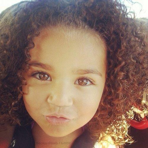Brown Eyed Curly Hair Light Skin Baby Short Curly Hair