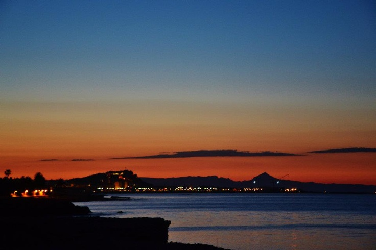 Sunset view from Denia - Spain