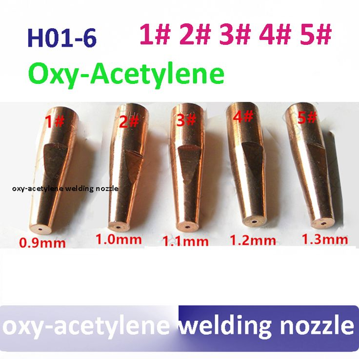 welding nozzle H01-6 oxy-acetylene welding tip 1# 2# 3# 4# 5# for H01-6 oxy-acetylene welding torch #Affiliate