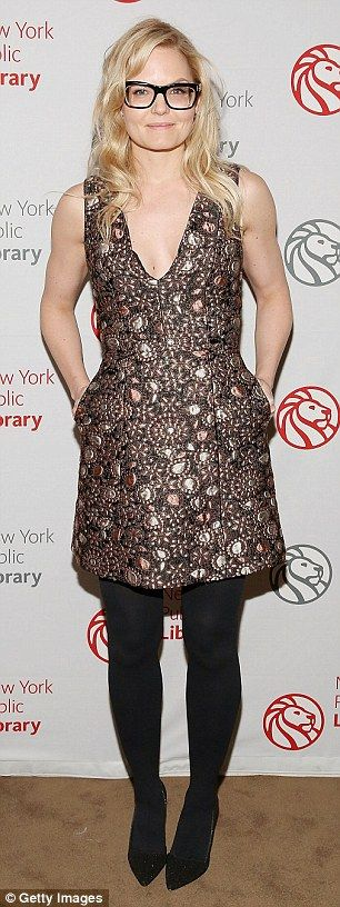 Jennifer Morrison goes for a literary look at the Young Lions Fiction Award Benefit in NYC