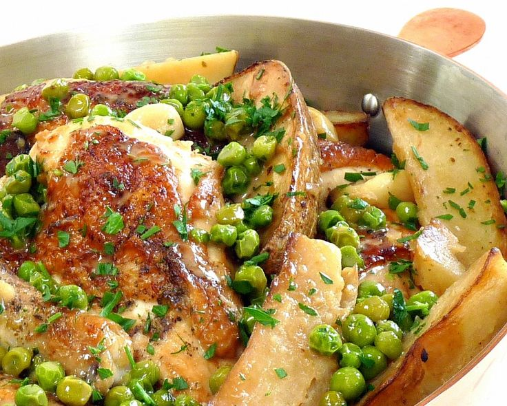 Chicken Vesuvio - Chicago Style from Wives with Knives (by: Marie at Proud Italian Cook)