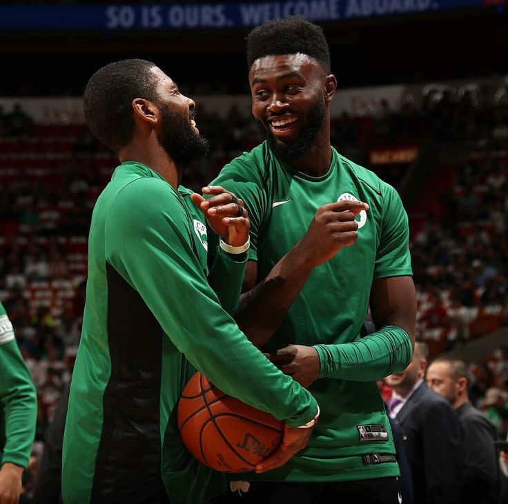 Kyrie Irving and Jaylen Brown