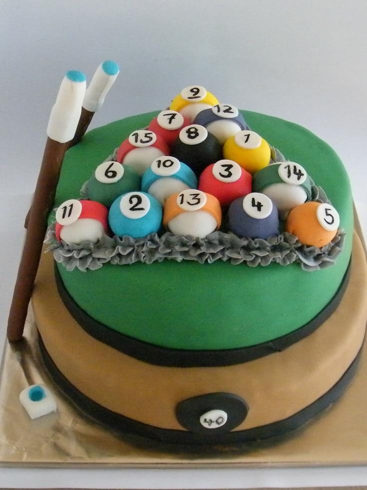8 Ball Biljart Cake Mens Cake Pinterest Cakes