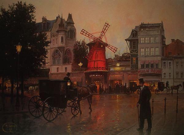 MOULIN ROUGE- Paryż wieczorem
