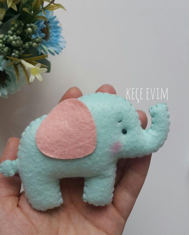 Keçe magnet Felt elephant @kece_evim