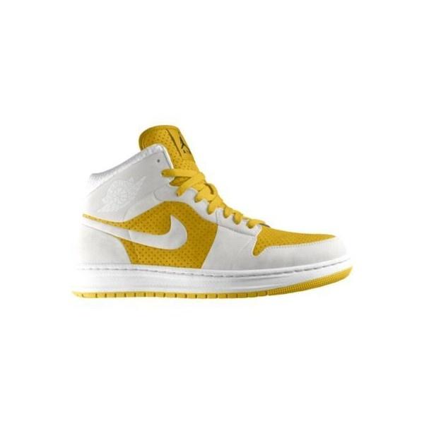 Nike Air Jordan Alpha 1 iD Custom Women's Basketball Shoes - Yellow,... ($165) ❤ liked on Polyvore