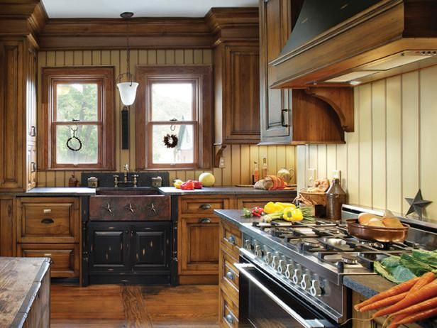 Kitchen designs from nkba 2011 finalists kitchen for Log cabin kitchen backsplash ideas