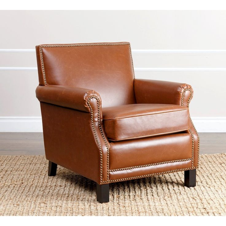 Best Abbyson Chloe Antique Red Leather Club Chair By Abbyson 640 x 480