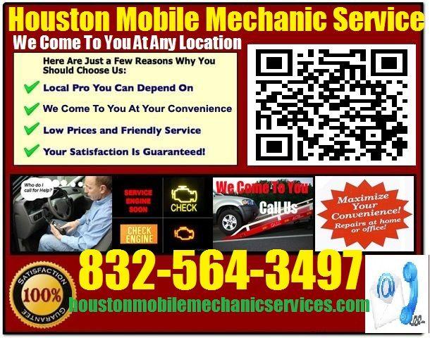 Mobile Auto Mechanic In Sugar Land Texas Car Repair Service call 832-564-3497