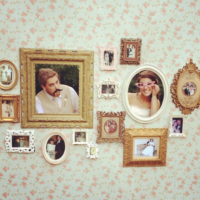 Vintage wall montage